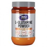 NOW SPORTS NUTRITION L-GLUTAMINE PURA EN POLVO 480 GRAMOS