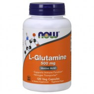 NOW SUPPLEMENTS L-GLUTAMINE 500 MG 120 VEG CAPSULES